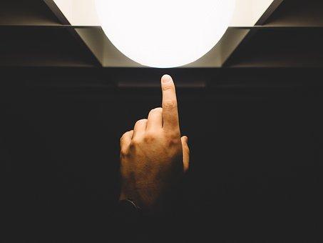 Finger Pointing Light Hand Lamp Finge