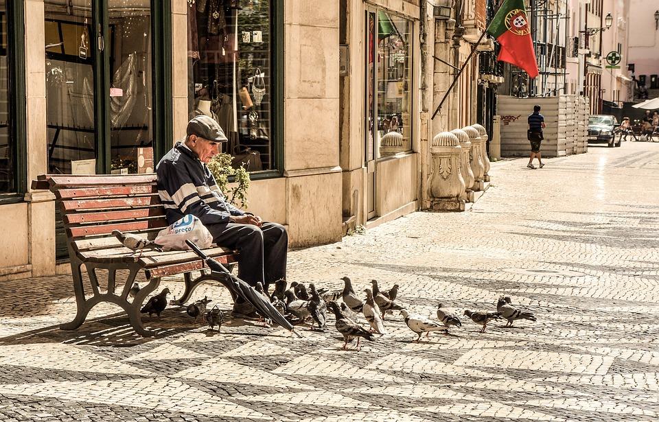 Antigua, Hombre, Ancianos, Senior, Personas, Banco