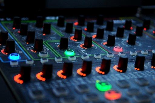 Dj Mixer Music Audio Equipment Sound Knobs