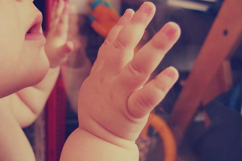 Bebé, Niño, Manos, La Boca, Personas