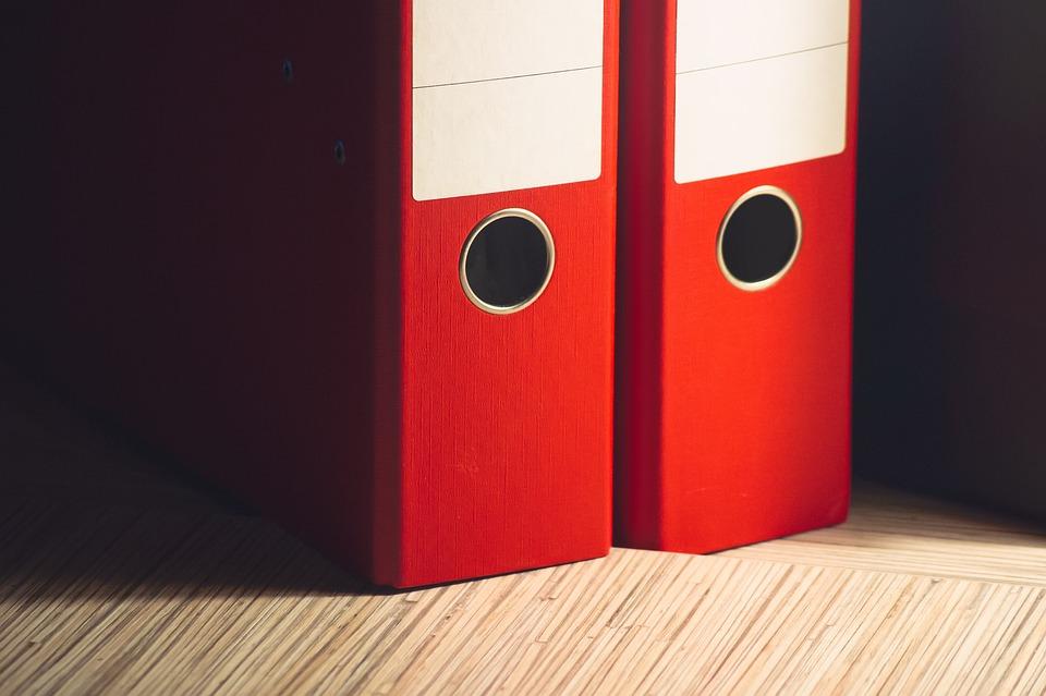 File Folders, Business, Office, Desk, Paperwork