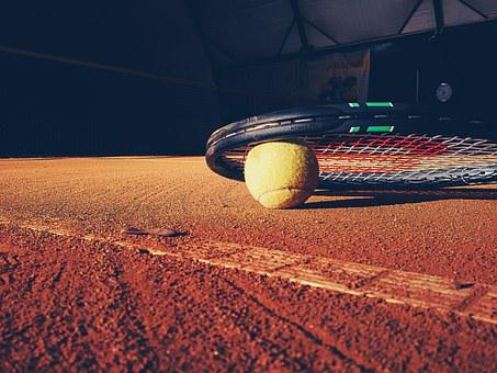 Tennis, Racket, Court, Clay, Ball