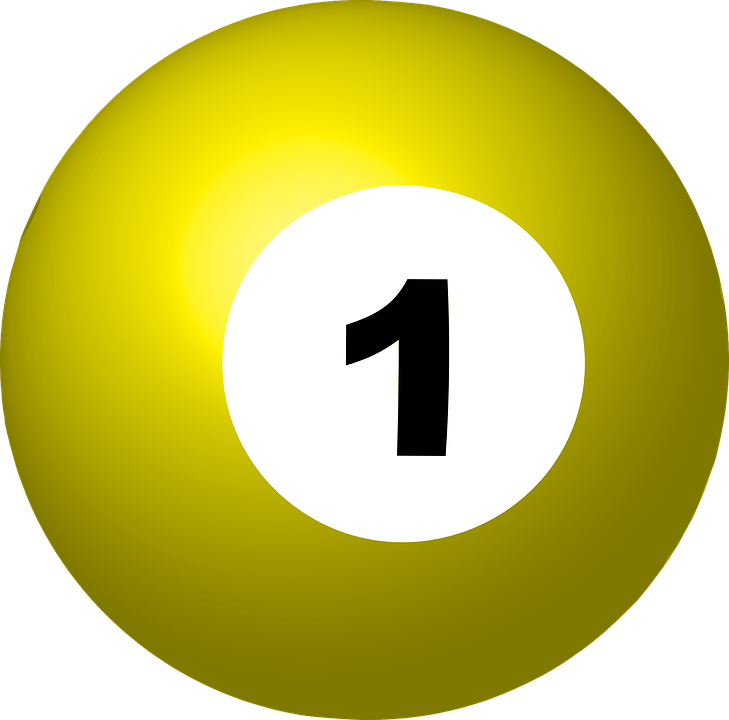 pool ball number 1 sphere free vector graphic on pixabay