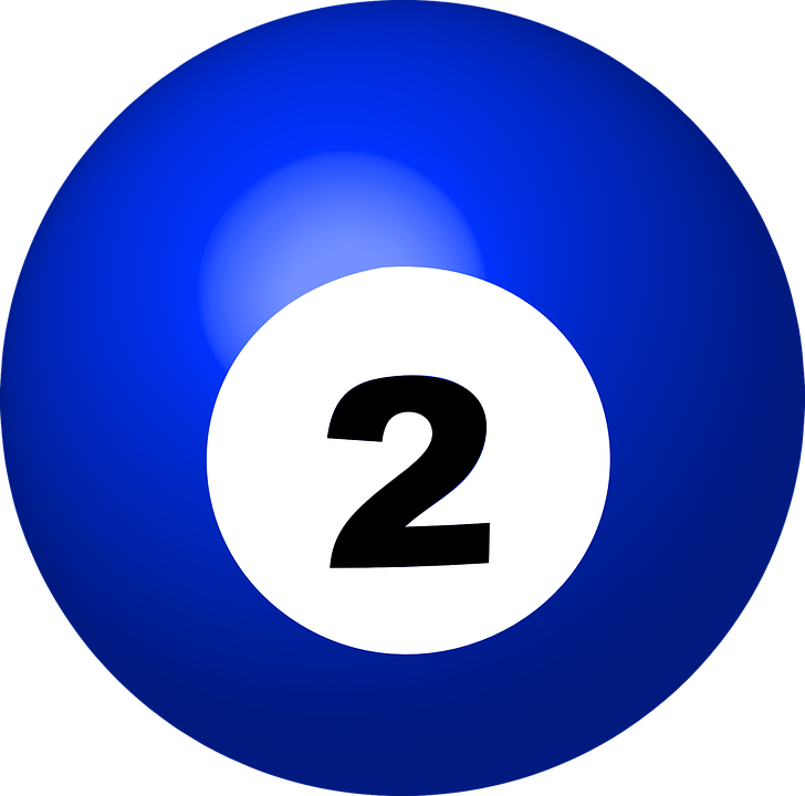 free vector graphic pool ball number 2 sphere ball free