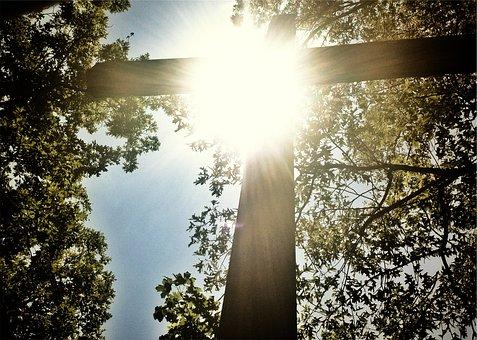 Sonnenschein, Kreuz, Religion