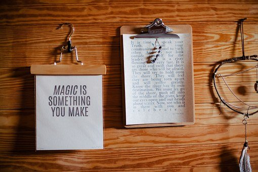 Clipboards Papers Text Quotes Letters Wood