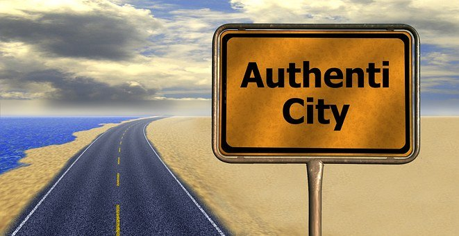 A road sign reading authenticity as part of 22 reasons why people read blogs