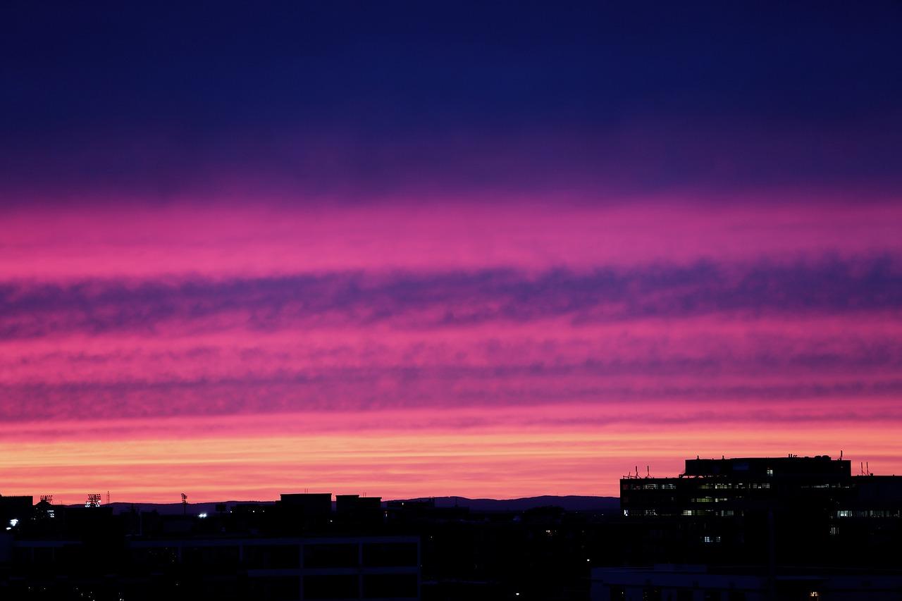 Pink Purple Sunset Free Photo On Pixabay