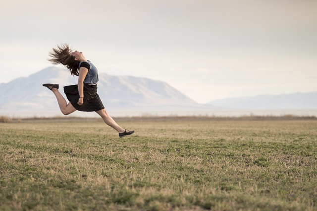 free photo girl jumping happy smiling free image on