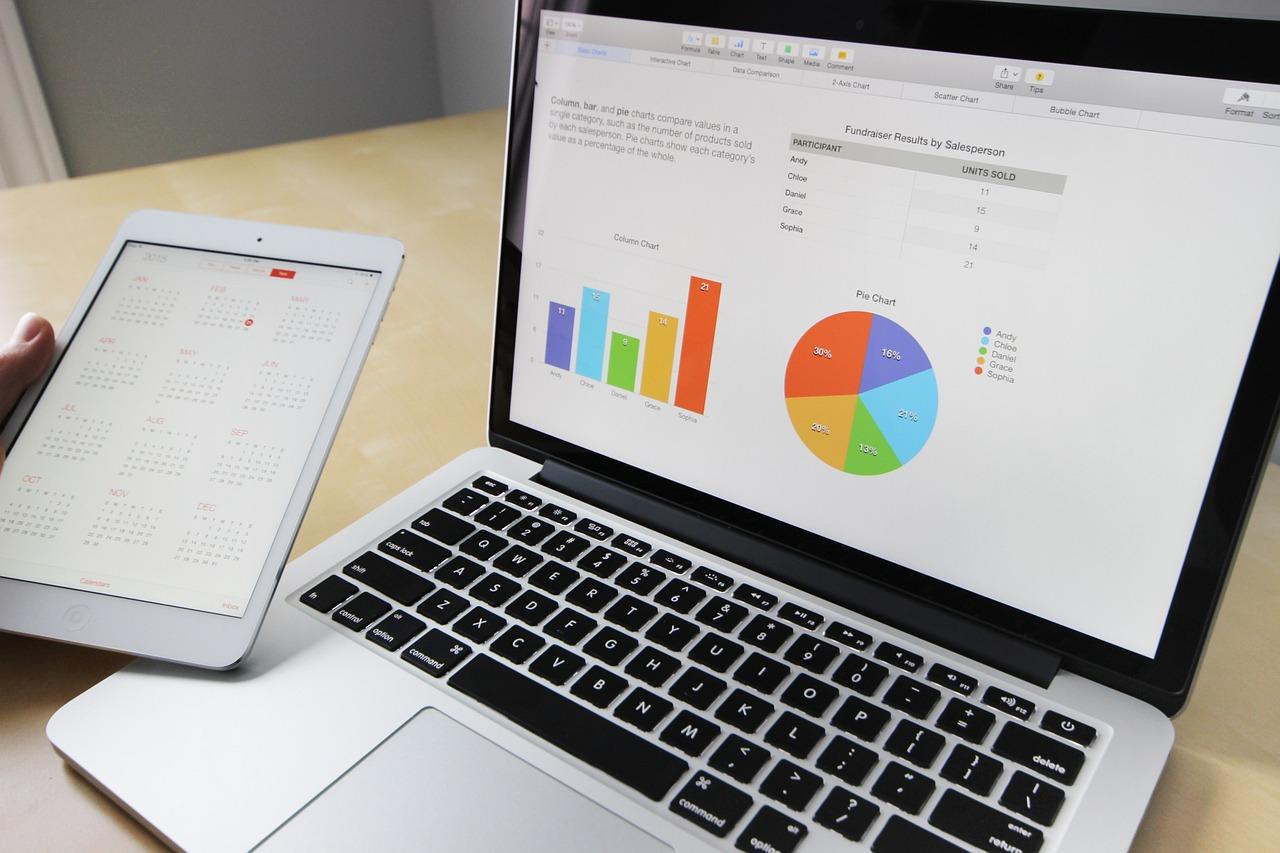 ビジネス, 作業, ラップトップ, Macbook, 計算されました, タブレット, コンピュータ, デスク