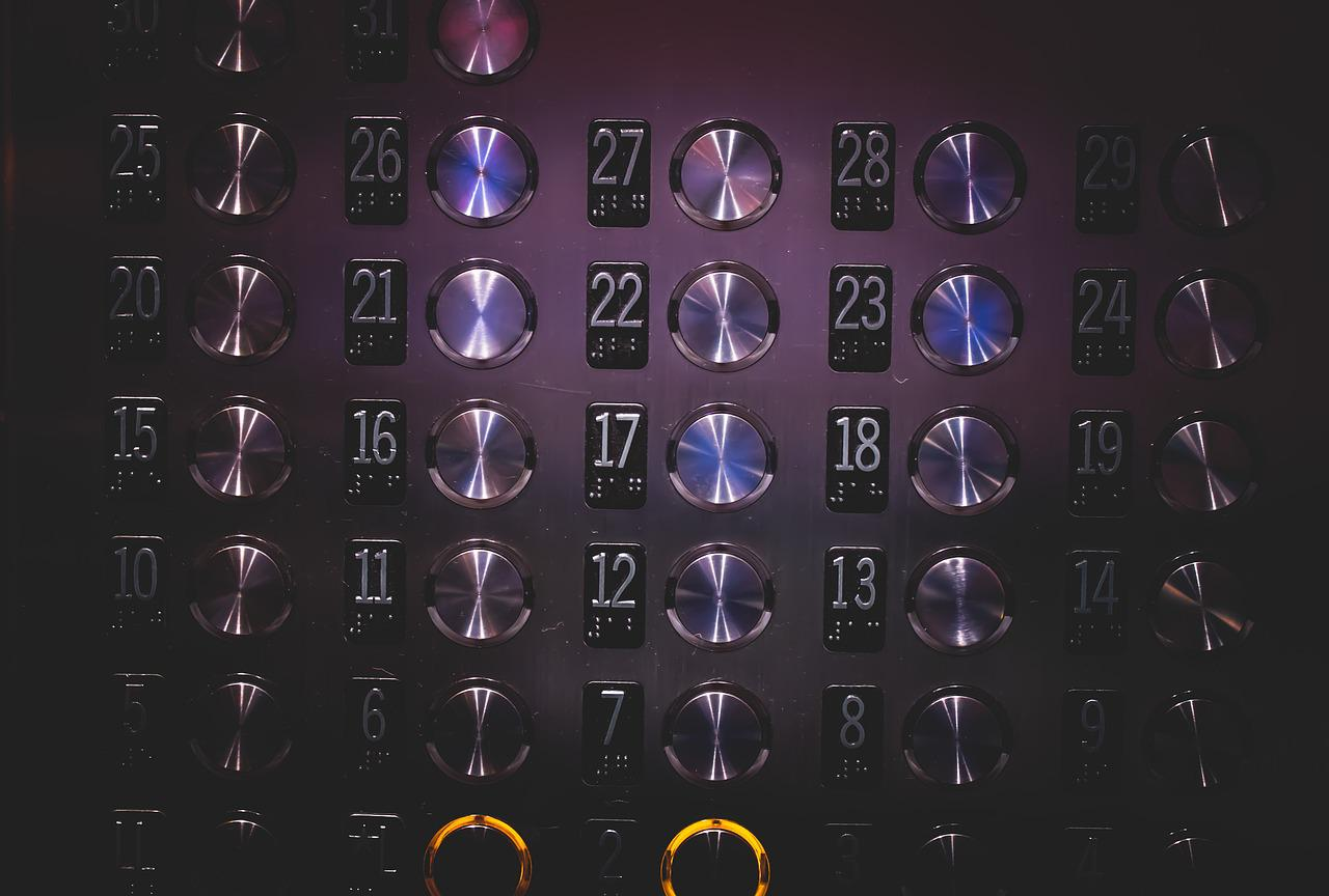 Elevator Buttons and Numbers - Hotcopy