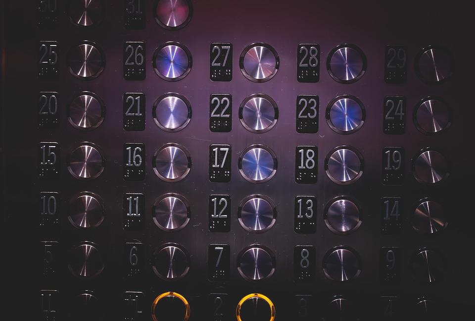 ลิฟท์, ปุ่ม, หมายเลข