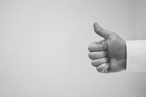 Thumbs Up Hand People Black And White