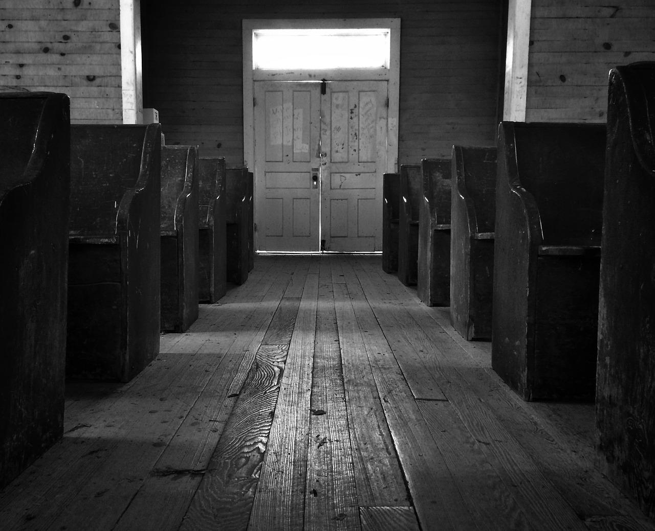 Church, Pews, Isle, Hardwood, Floors, Architecture