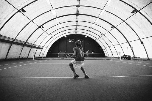 Tennis, Court, Dome, Sports, Athletes