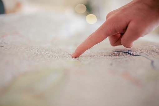 Map Finger Pointing Hand Map Map Map