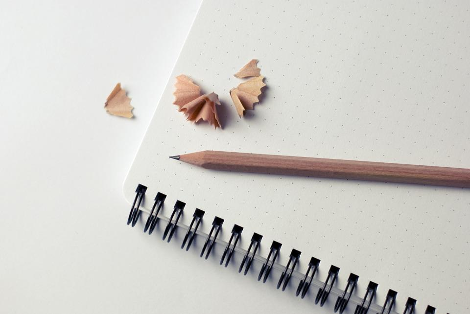 Notepad, Pencil, Shavings, Business, Office