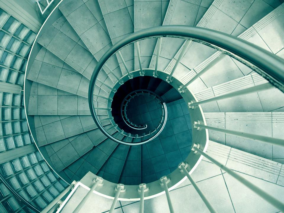 Spiral, Staircase, Stairwell, Steps
