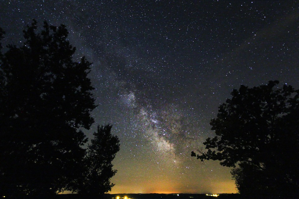 free photo galaxy stars night sky dark free image