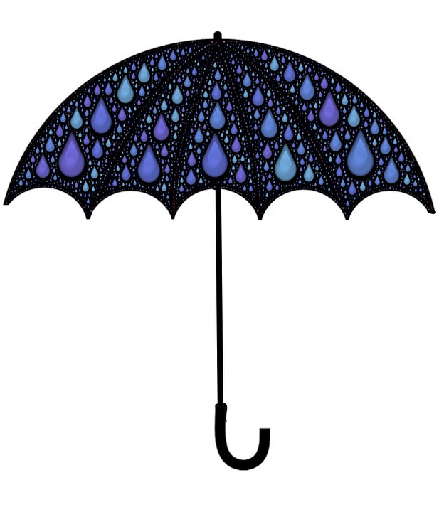 Umbrella Clipart Black And White Free illustration: Umb...
