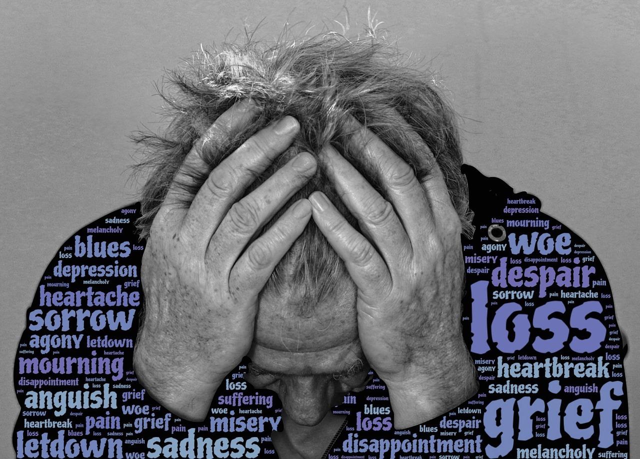 悲しみ, 損失, 絶望, 災い, うつ病の苦悩, 失恋, 痛み, ブルース, 期待外れ, 心痛, 悲惨さ