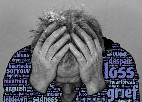 悲しみ, 損失, 絶望, 災い, うつ病の苦悩, 失恋, 痛み, ブルース
