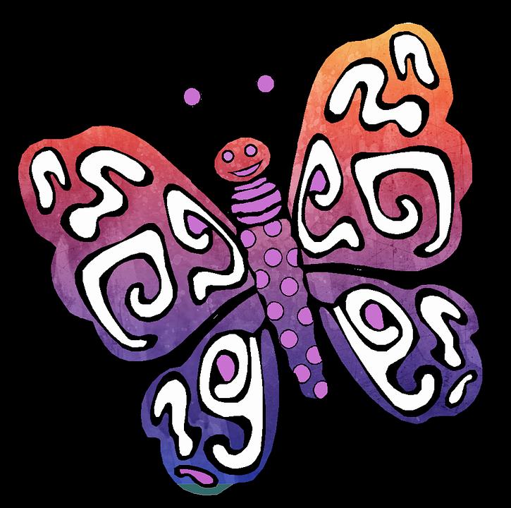 Kostenlose Illustration: Schmetterling, Zeichnung, Aquarell ...