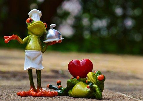 Frosch, Koch, Liebe, Valentinstag, Essen