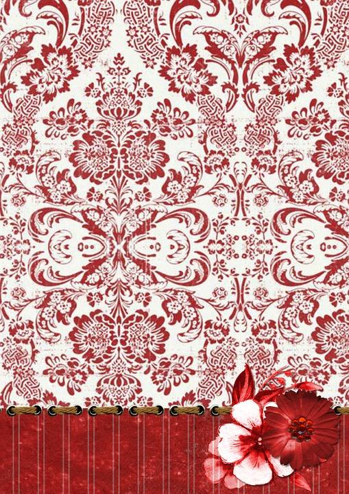 Fleur Damas Papier Image Gratuite Sur Pixabay