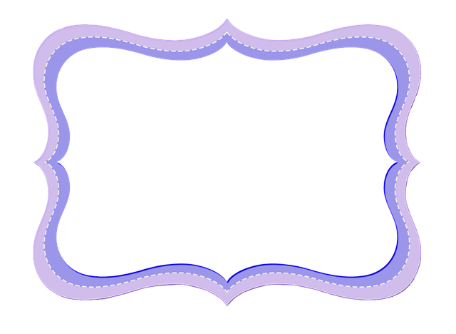 Free Illustration Frame Purple Decor Template Free