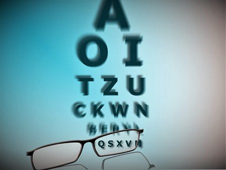 Glasses, Letters, Eye Test, Vision