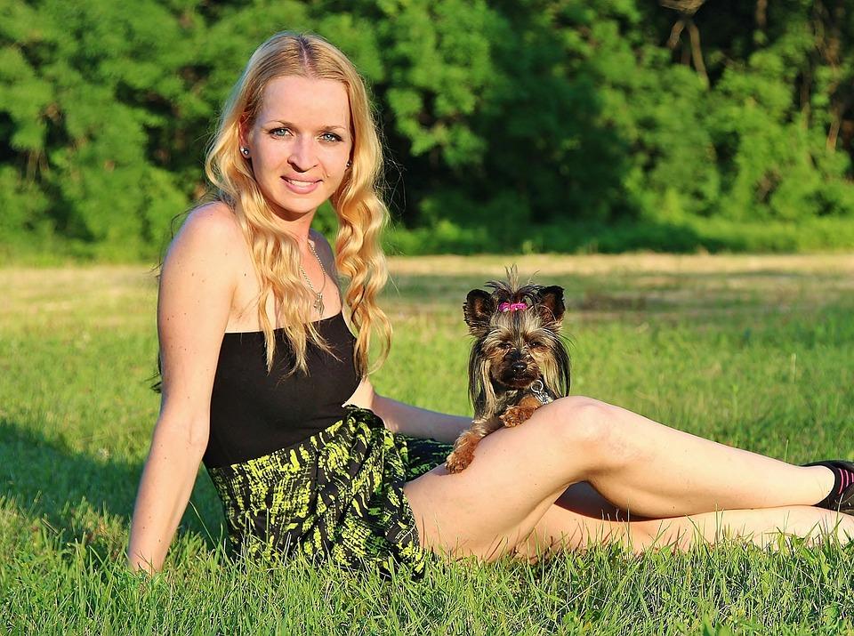 dog nature woman free photo on pixabay