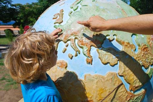 Teaching, Child, World, Geography