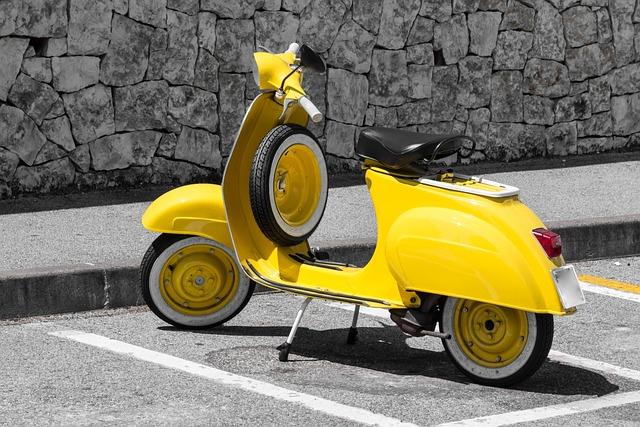 Free Photo: Vespa, Yellow, Motor Scooter
