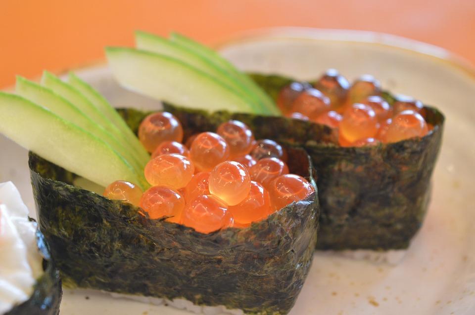 Sushi, Giapponese, Cibo, Uovo Di Pesce, Cibo Giapponese