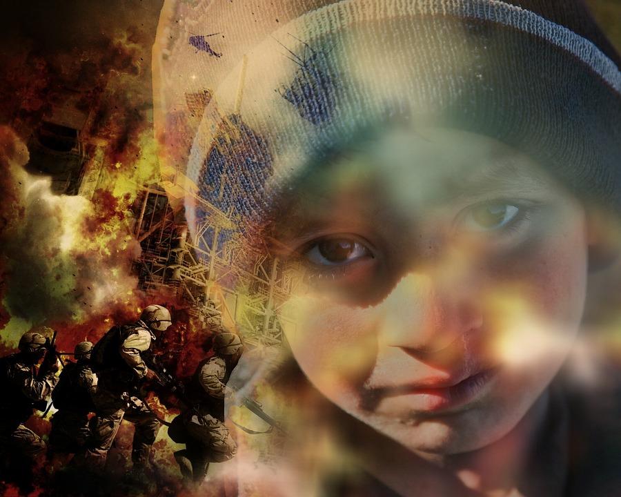 Guerra, Refugiados, Crianças, Ajuda, Sofrimento