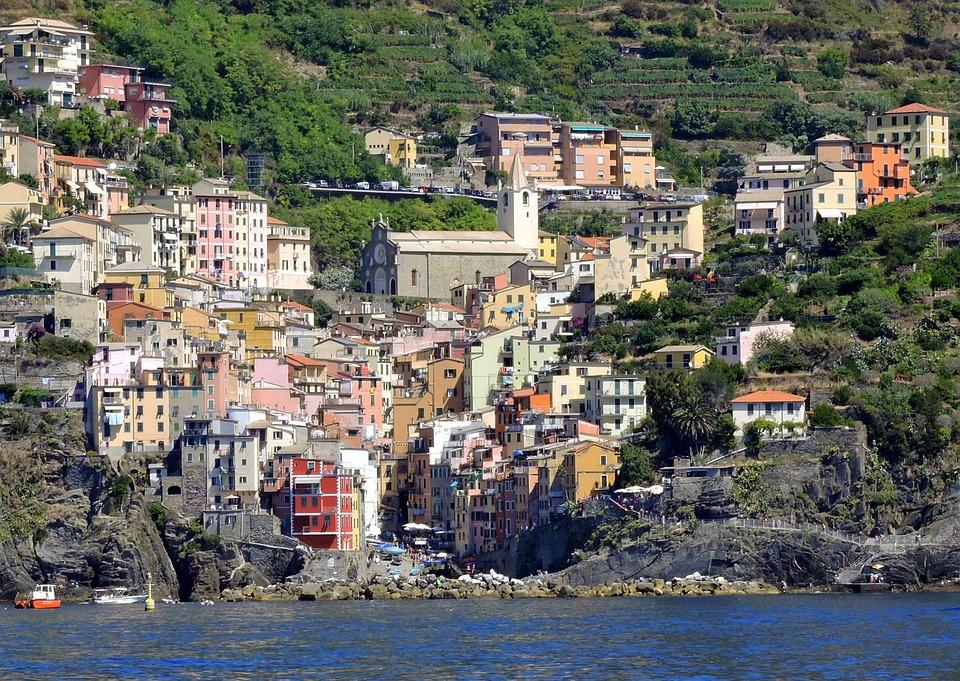 Cinque Terre, Sea, Houses, Colors, Riomaggiore, Liguria