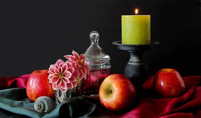 Still Life Candle Flowers 183 Free Photo On Pixabay