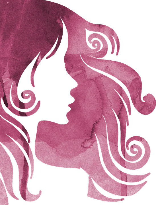 Free Illustration Pink Silhouette Watercolor Woman