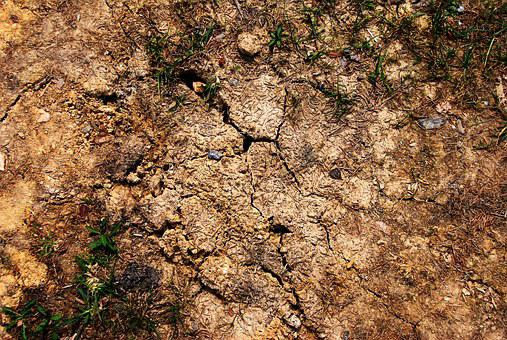 Cracked, Earth, Ground, Brown