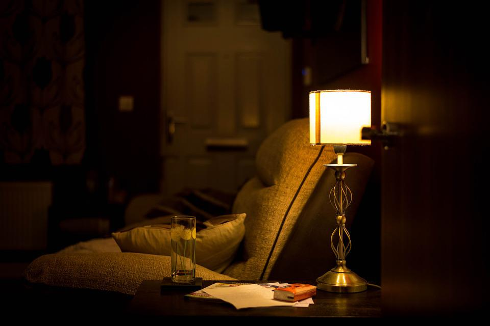 Room, Armchair, Lamp, Evening, Home, Chair, Interior