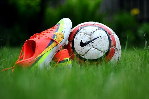 Green, Grass, Shoes, Nike, Football
