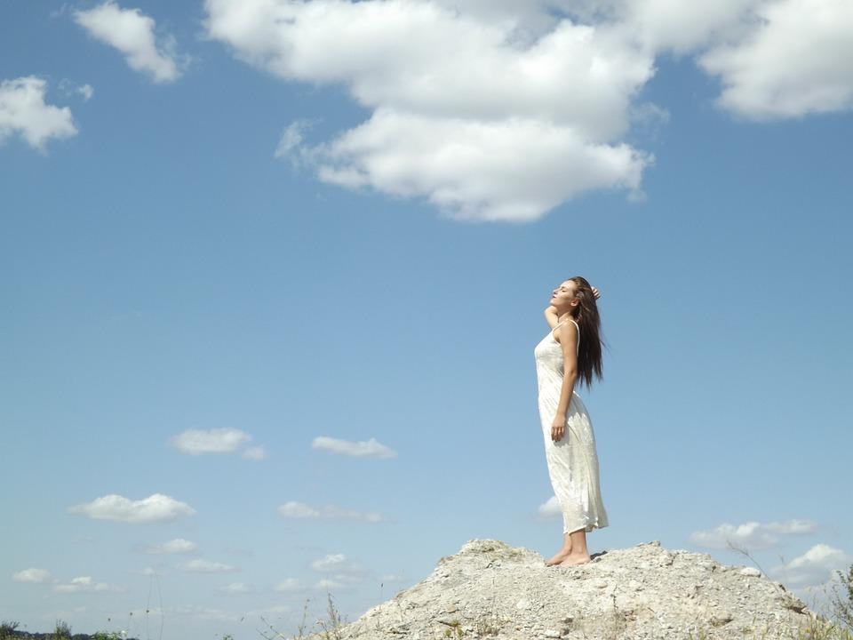 girl angel cloud free photo on pixabay