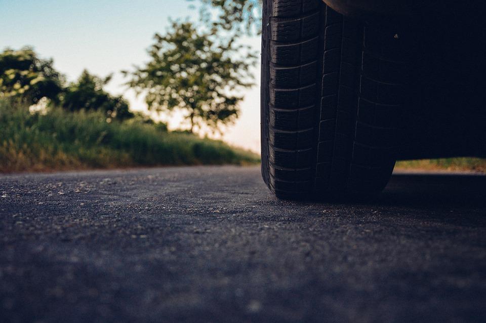 Samochód, Drogi, Opona, Asfalt, Pojazdu, Jazdy, Koło