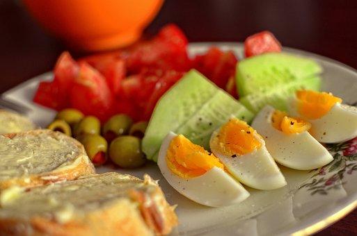 Food, Egg, Bread, Breakfast, Healthy