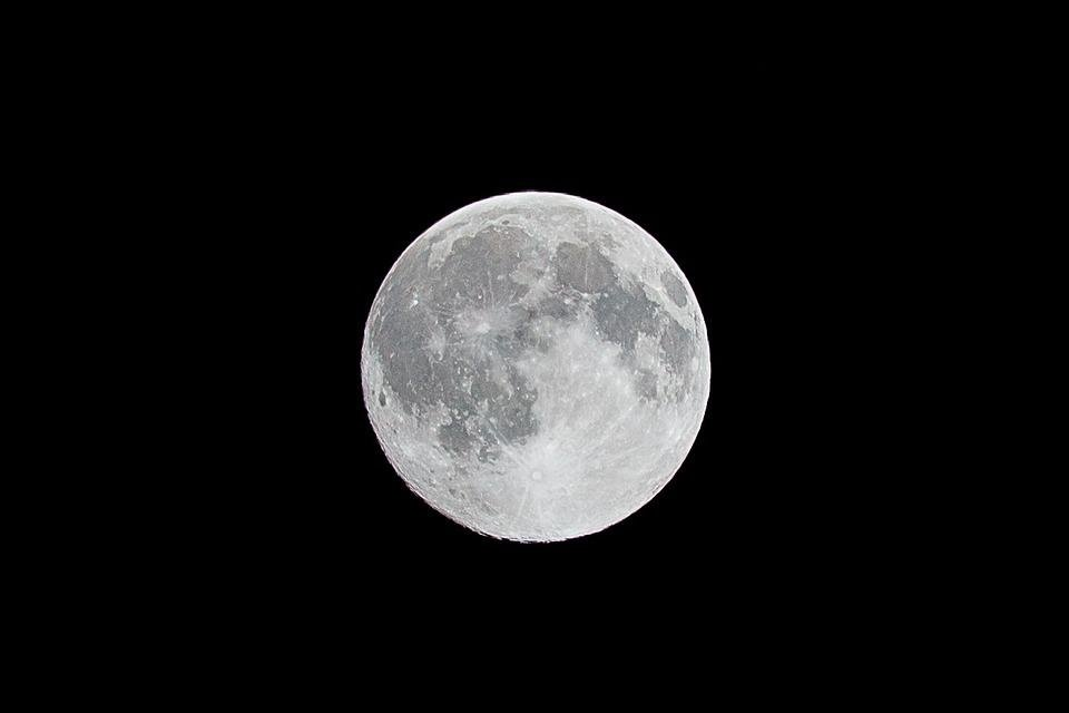 Free Photo Moon Night Full Moon Black Free Image On