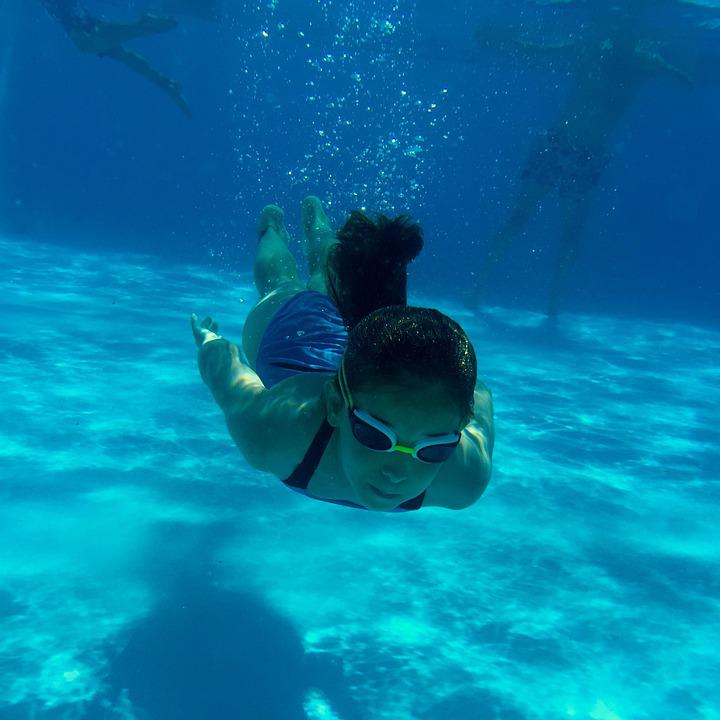 Free photo swimming pool girl sw swimming free image on pixabay 932894 for Swimming pool cloudy blue water