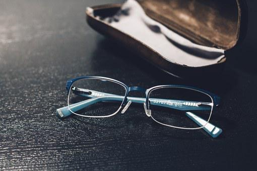 Glasses, Desk, Cover, Office, Business