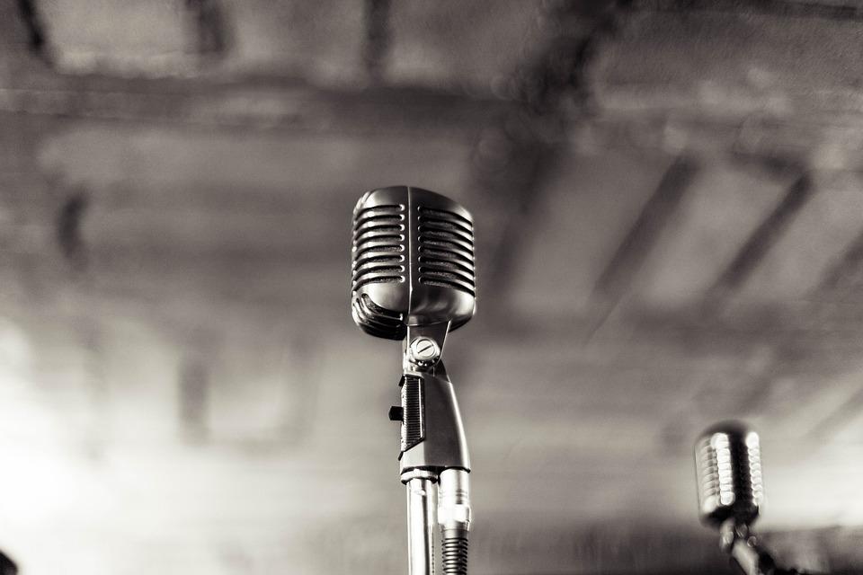 Microphone, Music, Vintage, Retro, Mic, Sound, Audio