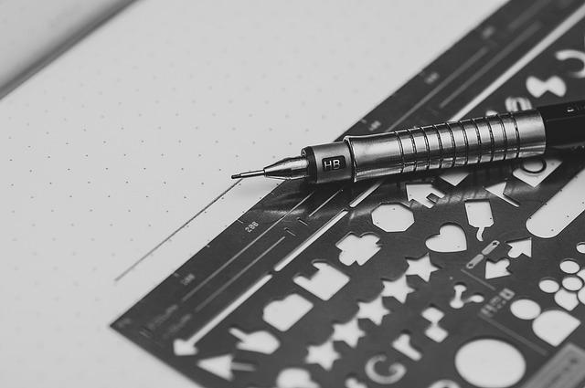 Pen, Stencil, Style, Design, Pattern, Set, Retro